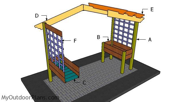Building a planter pergola