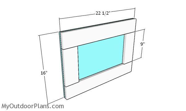 Building the chicken coop door