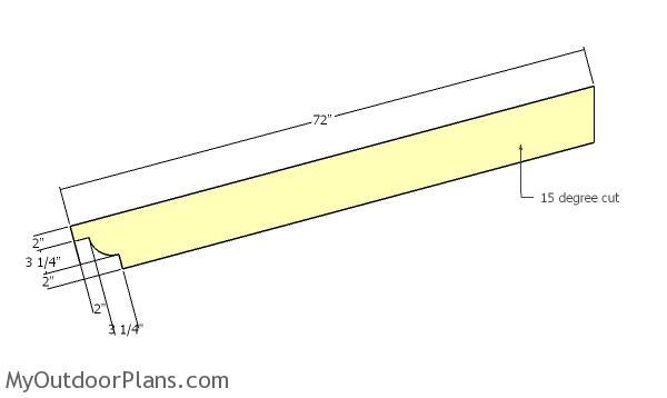 Building the support beams - planter pergola