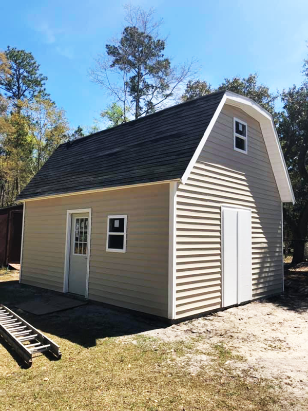 16x20 Gambrel Shed - DIY Project