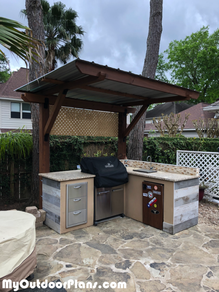 Diy 2 Post Pergola Outdoor Kitchen Myoutdoorplans