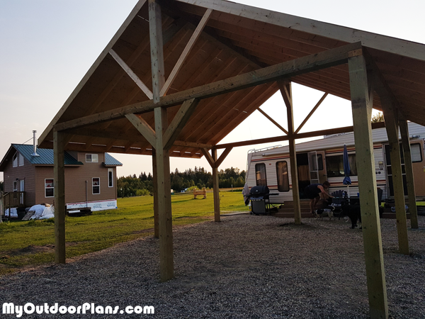20x20 Picnic Shelter Diy Project Myoutdoorplans Free Woodworking Plans And Projects Diy