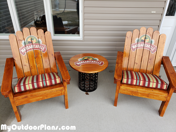 DIY Adirondack Chair made from 2x4s