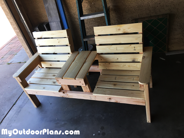 DIY Double Chair Bench Combo