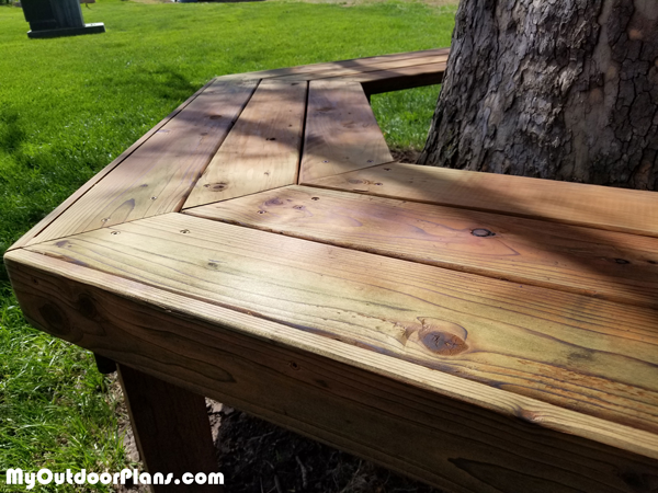 Diy Outdoor Bench Around Sycamore Tree Myoutdoorplans