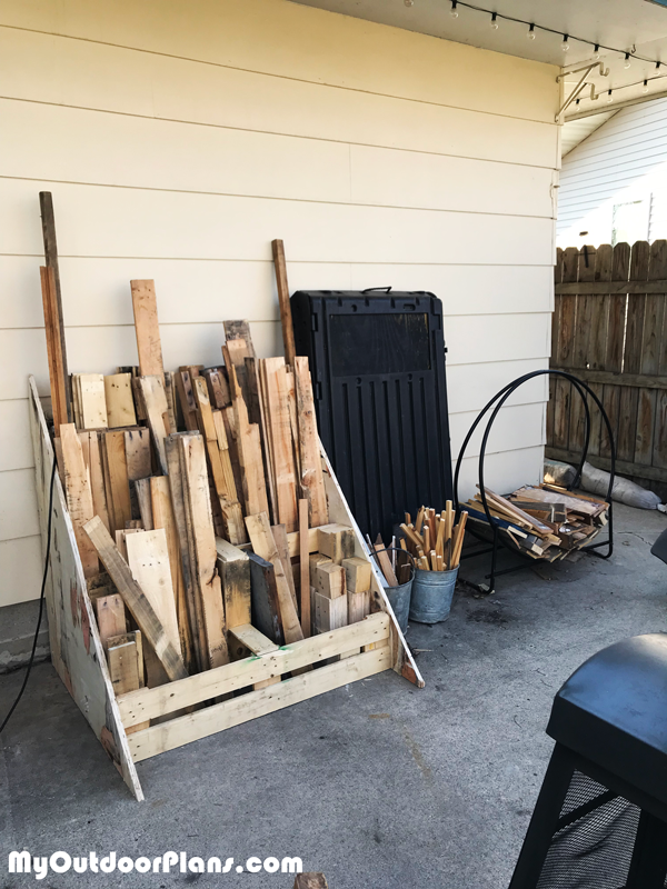 DIY Wood Storage Pallet Project
