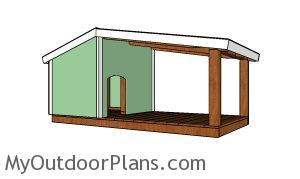 Dog house with porch plans