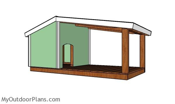 Dog House Plans with Porch