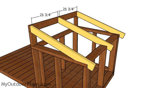 Fitting the dog house rafters