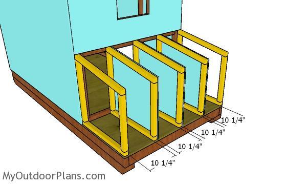 Fitting the nesting box frames