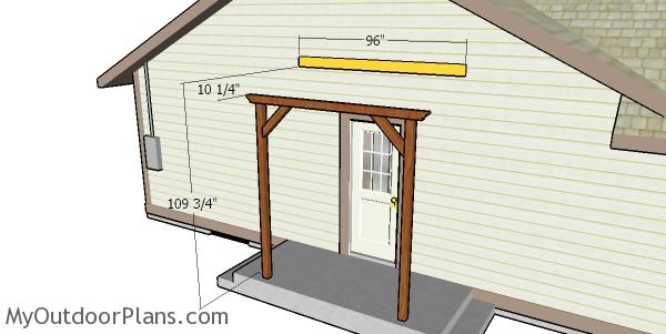 Fitting the pergola ledger