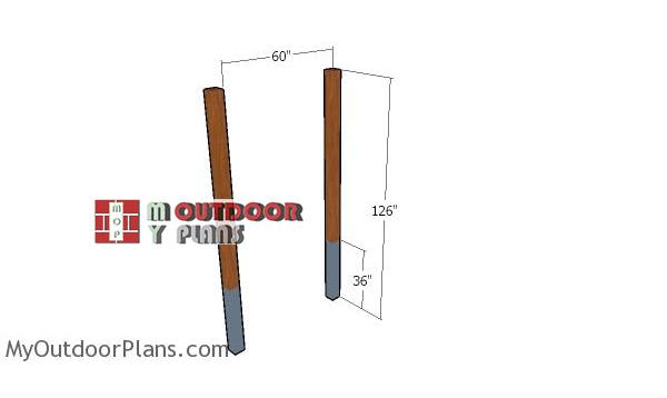 Fitting-the-posts---pergola-bar