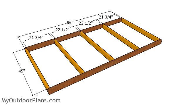 Floor frame - chicken coop plans