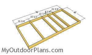 Floor frame - dog house