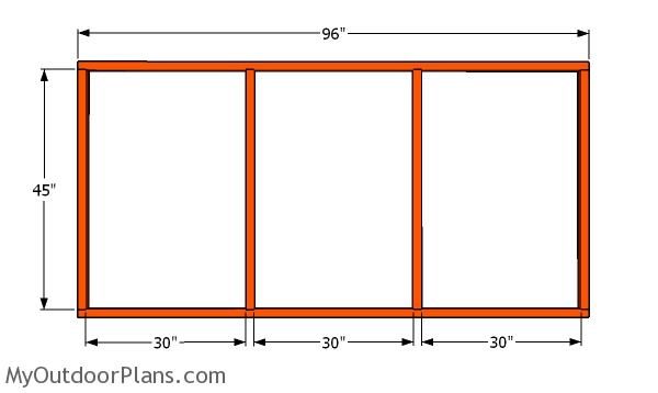 Front wall frame for the chicken run