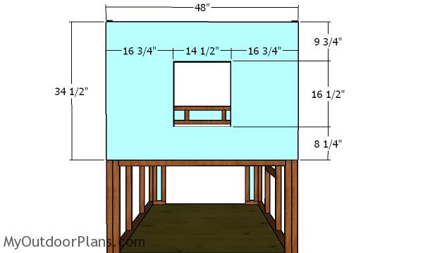 Front wall panel - chicken coop plans