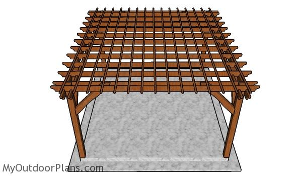 How to build a 14x16 pergola