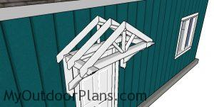 How to build a door canopy