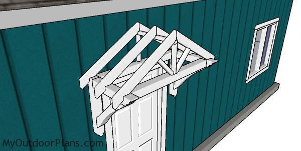 How to build a door canopy