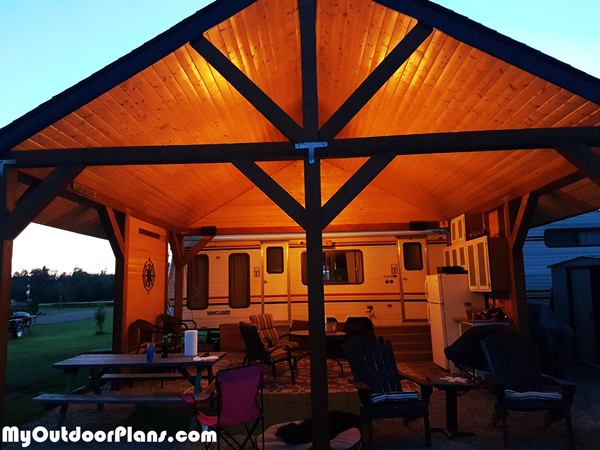 20x20 Picnic Shelter - DIY Project