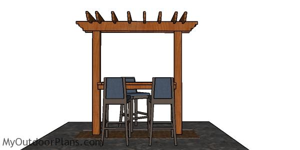 How to build a pergola bar