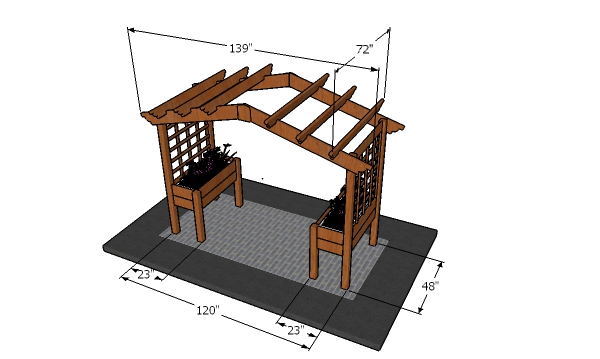 How to build an arbor with planters