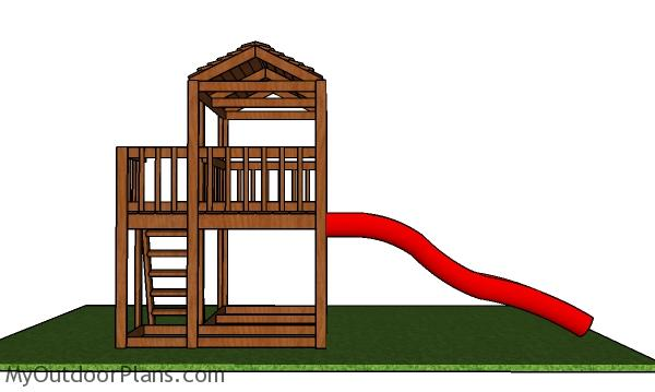 Outdoor Fort Plans - side view