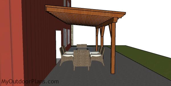 Patio Cover Plans - side view