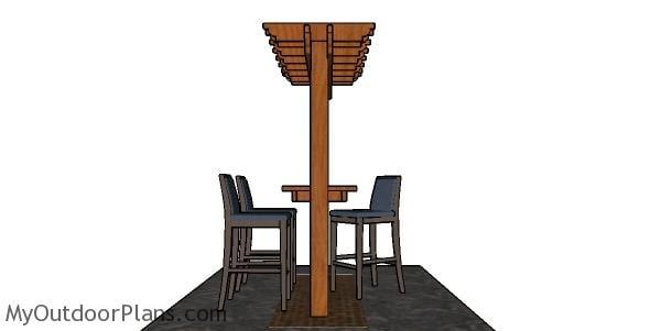 Pergola Bar Plans - side view