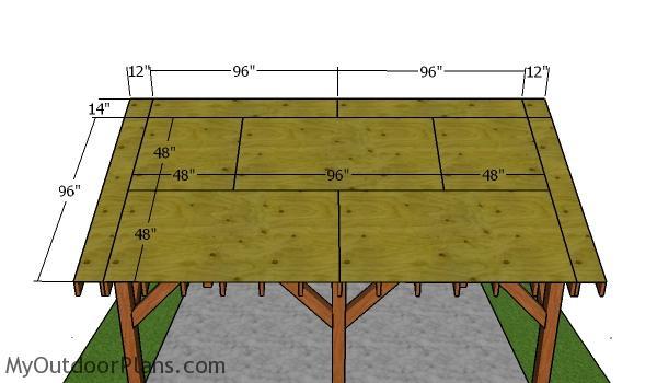 Roof sheets - 16x18 pavilion