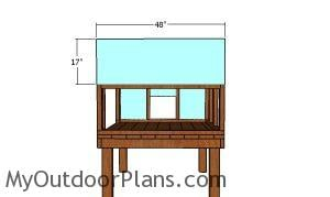 Side panel - 4x4 chicken coop