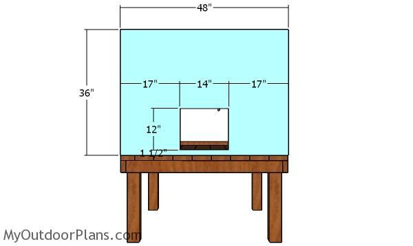 Side panel - chicken coop