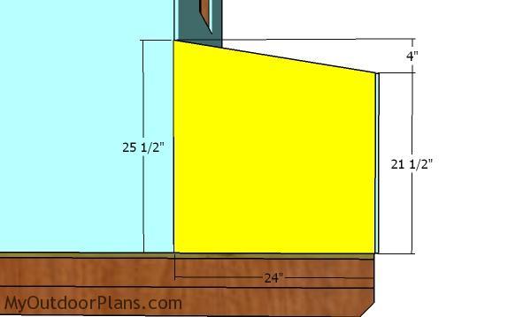 Side panels for nesting box
