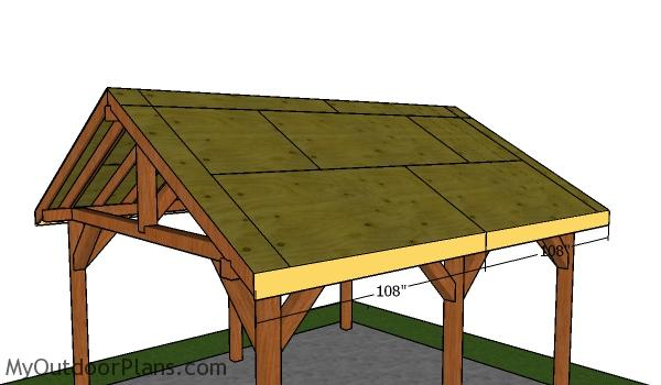 Side roof trims - 16x18 Pavilion