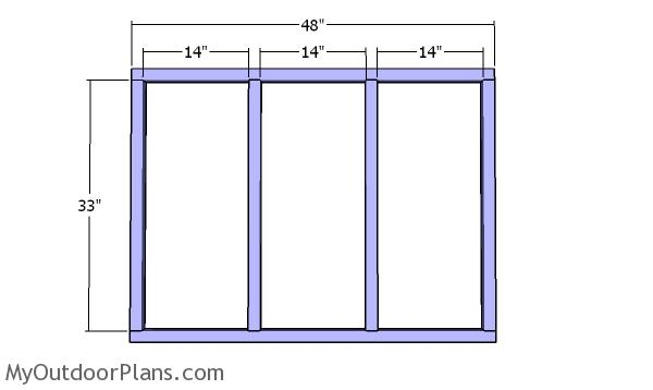 Side wall frame - 4x4 coop