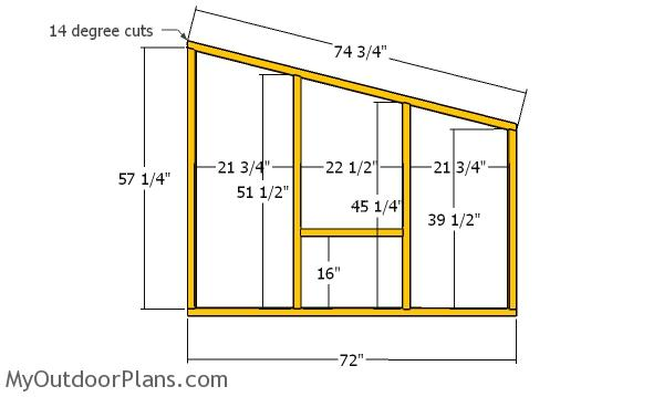 Side wall frames - 4x8 chicken coop plans