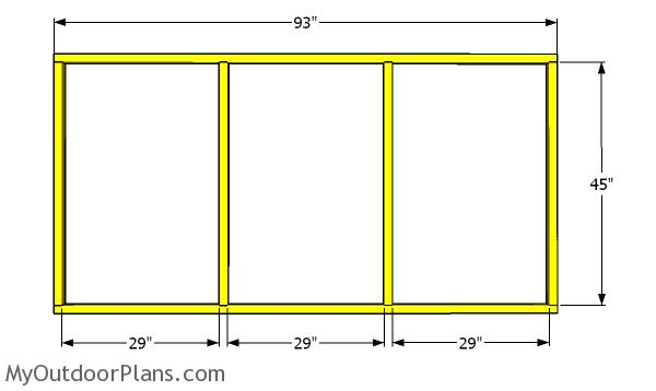Side wall frames for the chicken run
