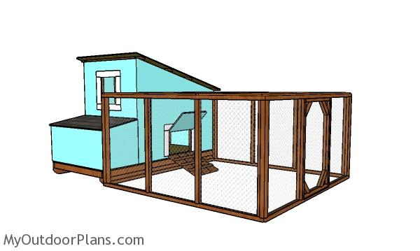 chicken coop with run plans