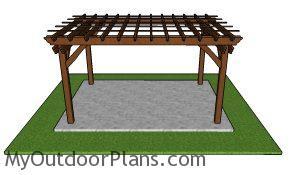 10x14 Pergola Plans - Free PDF Download