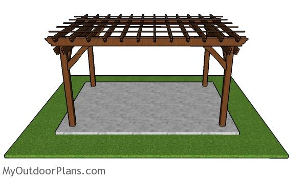10x14 Pergola Plans - Free PDF Download