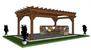 10×18 Pergola – Free PDF Download