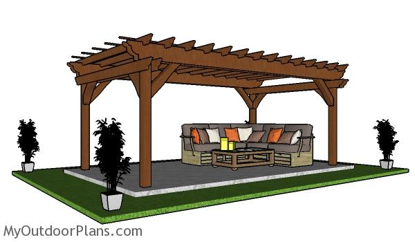 10x18 Pergola - Free PDF Download