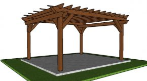 12×14 Pergola Plans – Free PDF Download