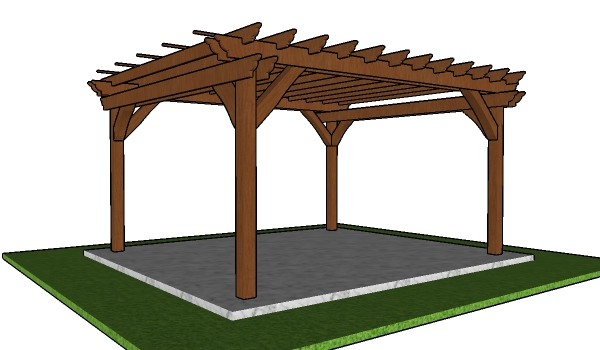 12x14 Pergola Plans - Free PDF Download