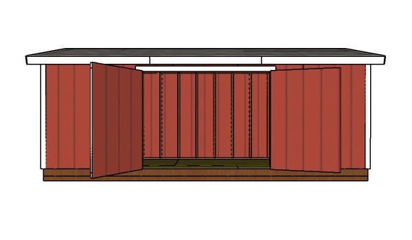5x20 Shed Plans - PDF Download