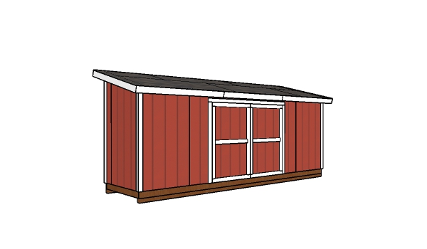 5x20 Lean to Shed Plans - Free PDF Download