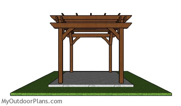 8x12 Pergola - Free PDF Download