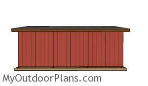 8x24 Run in shed plans - Back view