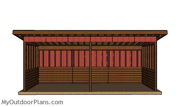 8x24 Run in shed plans