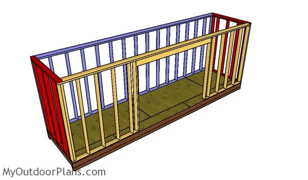 Assembling the shed frame - 5x20 shed